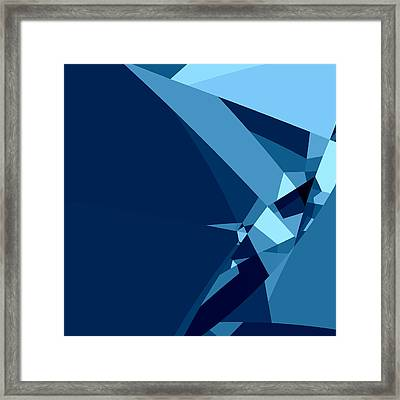 Blue Abstract 1 Framed Print