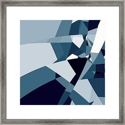 Blue Abstract 2 Framed Print