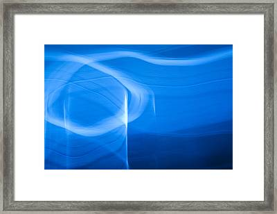 Blue Abstract 2 Framed Print by Mark Weaver