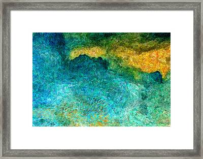 Blue Abstract #5 Framed Print