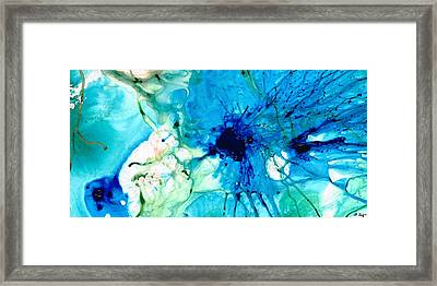 Blue Abstract Art - A Calm Energy - By Sharon Cummings Framed Print