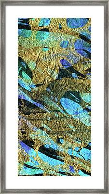 Blue Abstract Art - Deeper Visions 2 - Sharon Cummings Framed Print