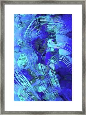 Blue Abstract Art - Reflections - Sharon Cummings Framed Print by Sharon Cummings