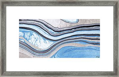 Blue Abstract Art - Water And Sky - Sharon Cummings Framed Print by Sharon Cummings
