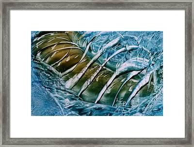 Blue Abstract Dark Ribbon Centre Framed Print
