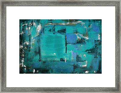 Blue Abstract Framed Print
