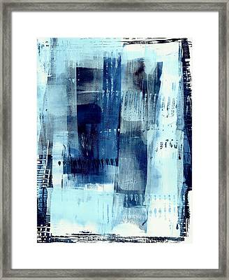 Blue Abstract I Framed Print by Lisa Noneman