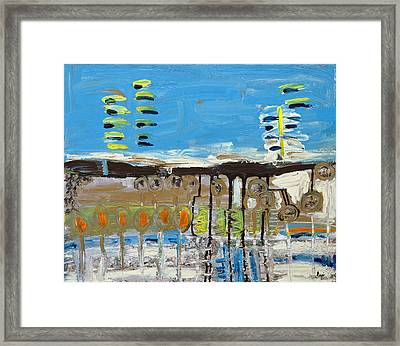 Blue Abstract Framed Print by Maggis Art