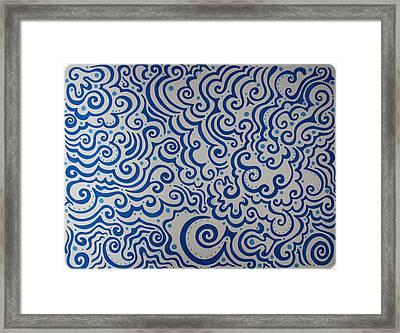 Blue Abstract Framed Print by Mandy Shupp