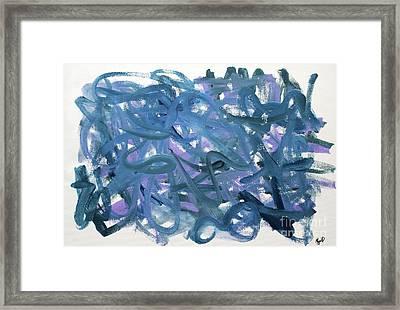 Blue Abstract Framed Print by Megan Dirsa-DuBois