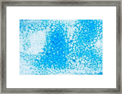 Blue Abstract Framed Print by Tom Gowanlock