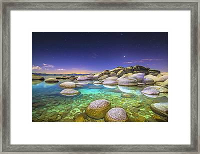 Blue Abyss Framed Print by Steve Baranek