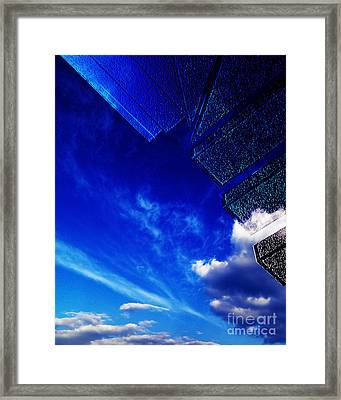 Blue Framed Print by Adriano Pecchio