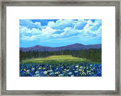 Blue Afternoon Framed Print by Anastasiya Malakhova