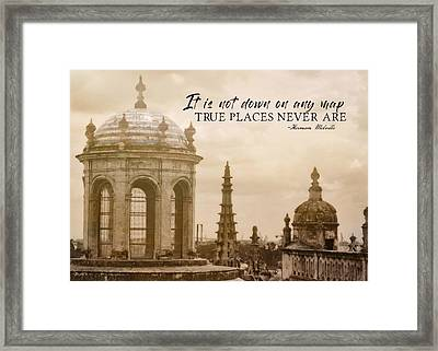 Blue Against Blue Quote Framed Print by JAMART Photography