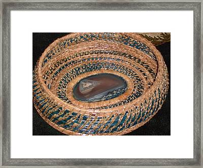 Blue Agate Basket Framed Print by Russell  Barton