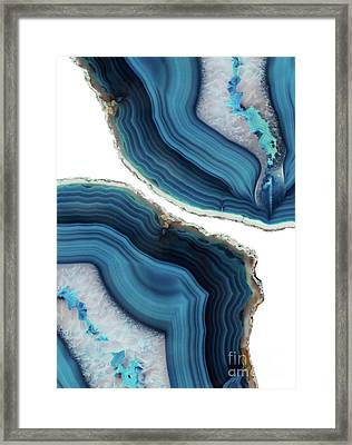 Blue Agate Framed Print by Emanuela Carratoni
