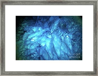 Framed Print featuring the photograph Blue Agate by Nicholas Burningham