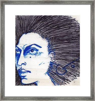 Blue Framed Print by Agatha Green