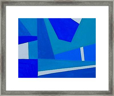 Blue Alert Detail 1 Framed Print by Dick Sauer