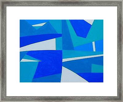 Blue Alet Framed Print by Dick Sauer
