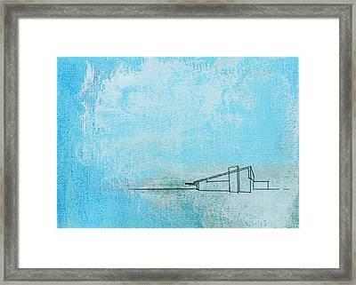 Blue Alexander White Mist Framed Print
