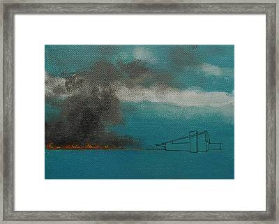 Blue Alexander With Brush Fire Framed Print