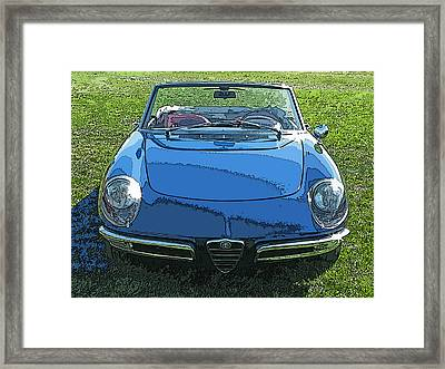Blue Alfa Romeo Spyder Framed Print by Samuel Sheats