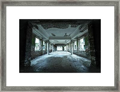 Blue Alleyway Framed Print by Svetlana Sewell