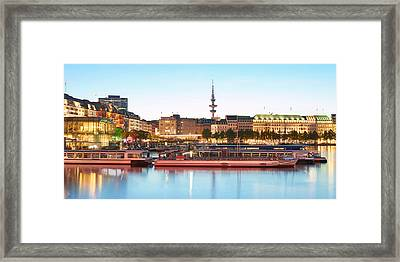 Framed Print featuring the photograph Blue Alster by Marc Huebner