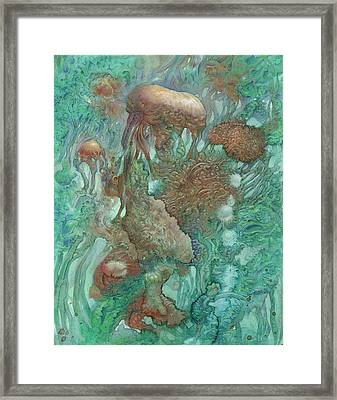Blue Alternator, Primordial Abstraction 2 Framed Print by Ethan Harris