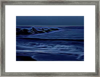 Blue And Black Framed Print by Zev Steinhardt