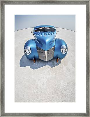 Blue  And Chrome Bonneville Salt Flats Framed Print by Holly Martin