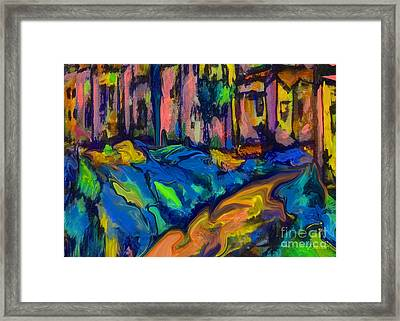 Southwest Blue And Gold In Fauve Framed Print