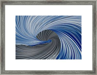 Blue And Gray Art Framed Print by Lourry Legarde