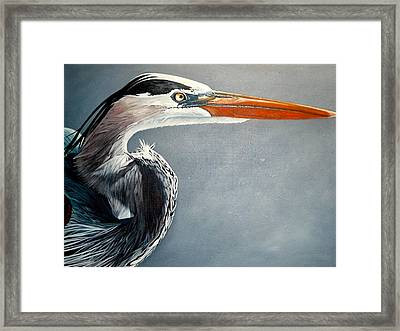 Blue And Gray Framed Print