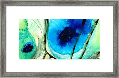 Blue And Green Art - Pools - Sharon Cummings Framed Print by Sharon Cummings