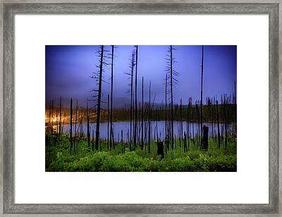Blue And Green Framed Print by Cat Connor