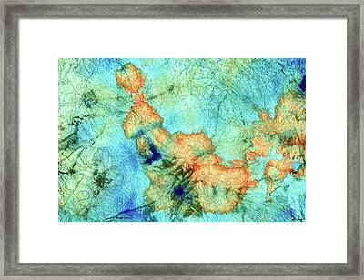 Blue And Orange Abstract - Time Dance - Sharon Cummings Framed Print by Sharon Cummings