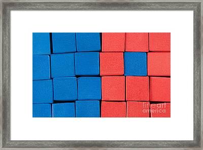 Blue And Orange Framed Print