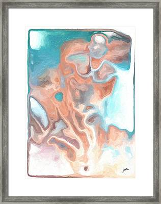 Blue And Orange Orgy Framed Print by Joaquin Abella
