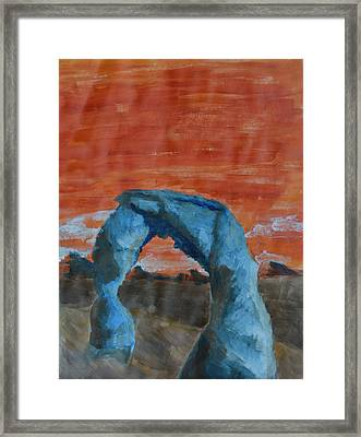 Blue And Orange Framed Print by Robin Lee