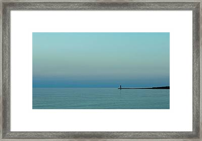 Blue And Peaceful Framed Print by Stelios Kleanthous