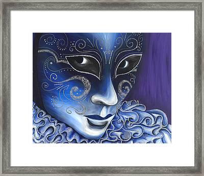 Blue And Sliver Carnival Flair  Framed Print