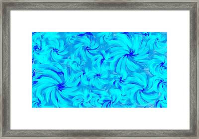 Blue And Turquoise 2 Framed Print by Linda Velasquez