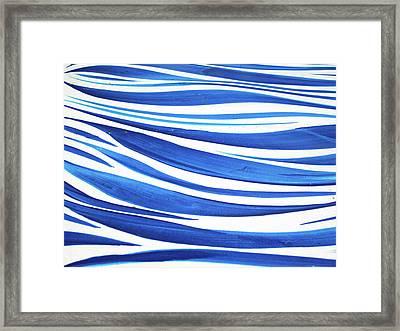 Blue And White No. 1 Framed Print