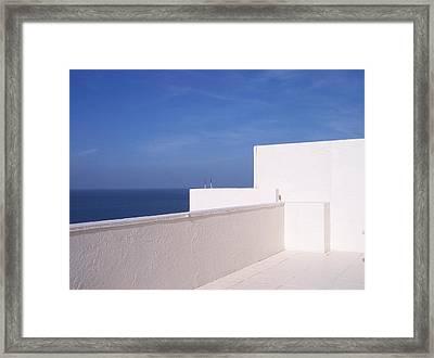 Blue And White Framed Print by Anna Villarreal Garbis