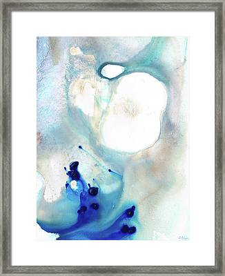 Blue And White Art - A Short Wave - Sharon Cummings Framed Print by Sharon Cummings