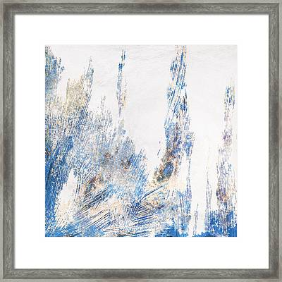 Blue And White Art - Ice Castles - Sharon Cummings Framed Print
