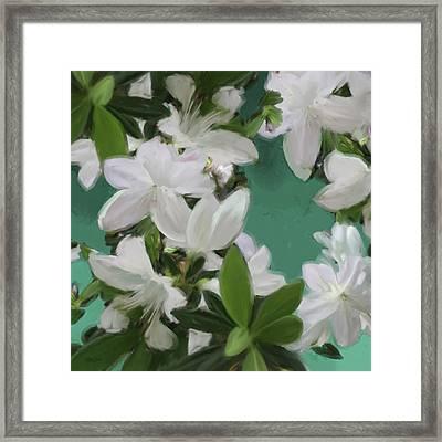Blue And White Flower Art 2 Framed Print